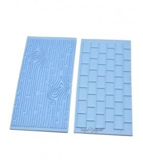 Matrita textura lemn si caramizi