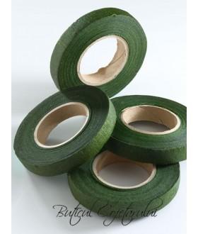 Banda flori verde inchis